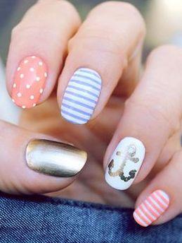 nautical nail art for summer
